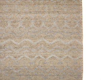 Antiqued Ivory Natural wool & Silk - Palma Collection