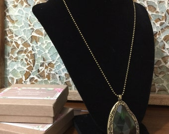 Green gem necklace