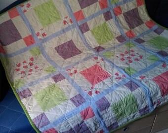 handmade patchwork blanket