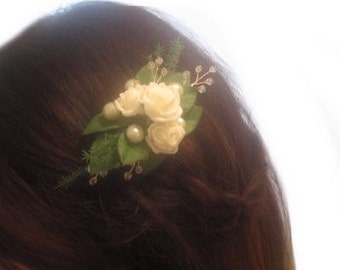 Swarovski Hair Clip, Hair Fascinator, Bridal Hair Clip, Crystal Hairpiece