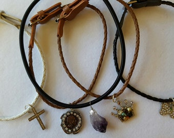 One of a kind animal collars-Amethyst is 20.00-The others are 15.00