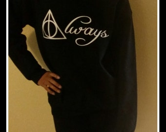 Always Hoodie Sweat Shirt, HP Hoodie Sweat Shirt, Deathly Hallows Sweatshirt
