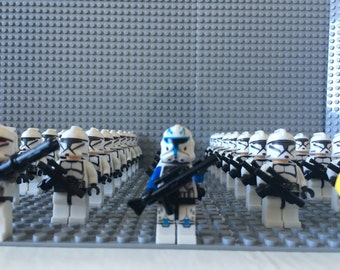 Star Wars Clone Trooper Army LEGO Compatible 43 X Minifigures + Baseplate Brick
