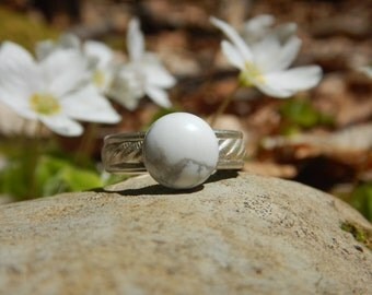 Ring Howlite & 925 Silver