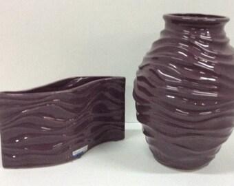 Purple Haeger Pottery Vase