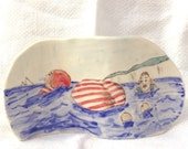 Going for a Dip Ceramic Stand or Wall Plaque