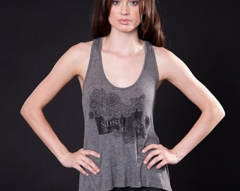 Cut-Out Racerback Tank (T120101G-PAISLEY)