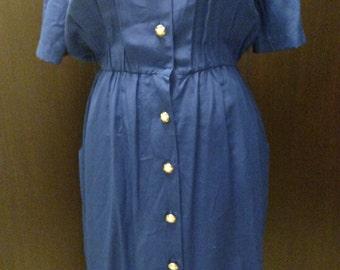 Blue vintage wiggle dress size 10
