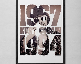 Cobain Dates Art Print