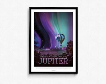 Vintage Space Travel Jupiter Art Print