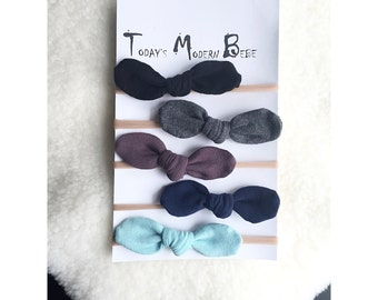 Baby / Toddler Mini Head Bow Pack - Midnight Set