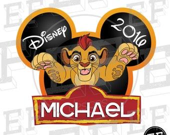 Digital File Custom The Lion Guard Kion Digital Download for Print at Home Iron On Disney World or Disneyland matching Family Mickey Shirts