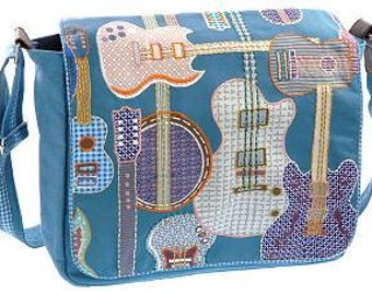 "Canvas shoulder bag ""Guitars"""