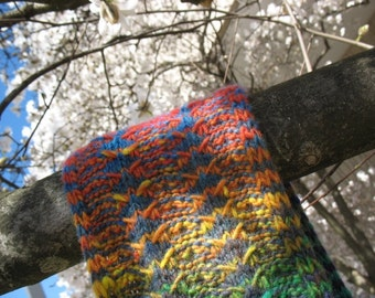 The Water is Wide reversible scarf with multiple options -- digital knitting pattern