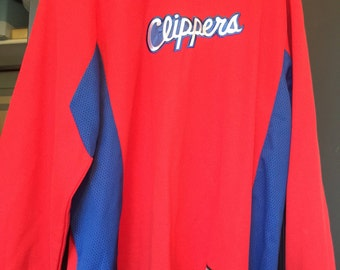 LA Clippers Red Long Sleeve Men's size Large jersey