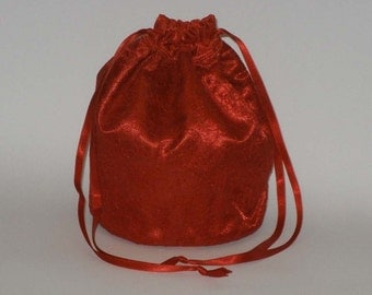 Red Satin & Lace Dolly Bag Evening Handbag Or Purse For Wedding Or Bridesmaid