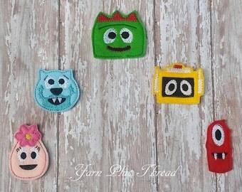 Gabba Bots Feltie Embroidery Designs