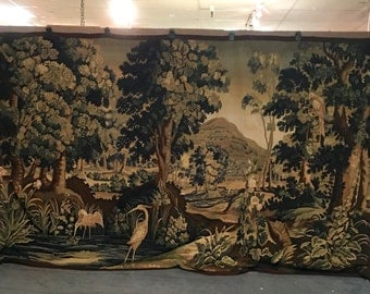 Vintage tapestry French Accents 14ft X 8ft