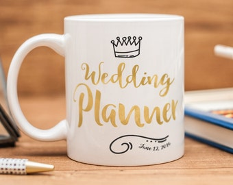 Wedding Planner mug, personalized Wedding Planner gift