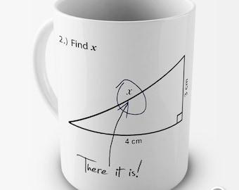 Joke Algebra Find X Ceramic Tea Mug
