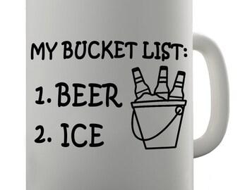 My Bucket List Beer And Ice Ceramic Tea Mug