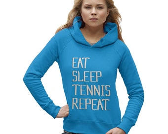 Women's Eat Sleep Tennis Repeat Hoodie