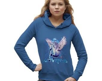 Women's Pegasus Unicorn Universe Hoodie
