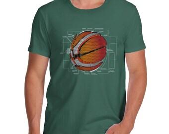 Men's Mechanical Basketball Parts Diagram T-Shirt