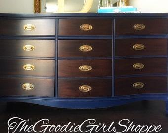 Sold ~ Dixie 9 Drawer Federal Dresser