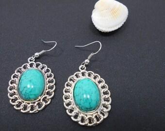 Earrings turquoise silver