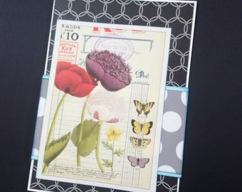 Butterflies and Blossoms greeting card