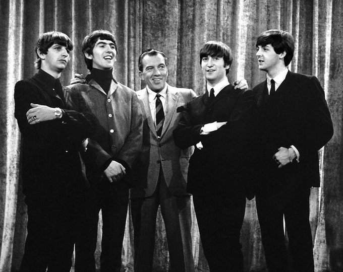 """The Beatles Make Their First Appearance on American Television on the """"Ed Sullivan Show"""" - 5X7 or 8X10 Publicity Photo (EP-342)"""