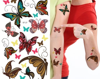 Supperb® Temporary Tattoos - Cute Butterfly Tattoos