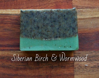 SOAP - Siberian Birch & Wormwood Detox Soap - Natural soap, Vegan soap, Herbal soap, Jewish soap, Organic soap, Handmade soap, Detox soap