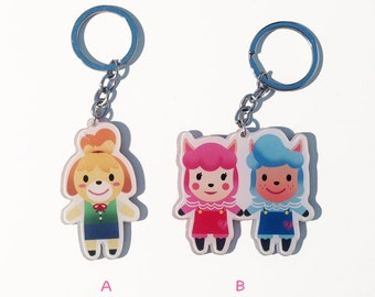 Animal Crossing (Isabelle, Cyrus & Reese)Keychain Charm Acrylic