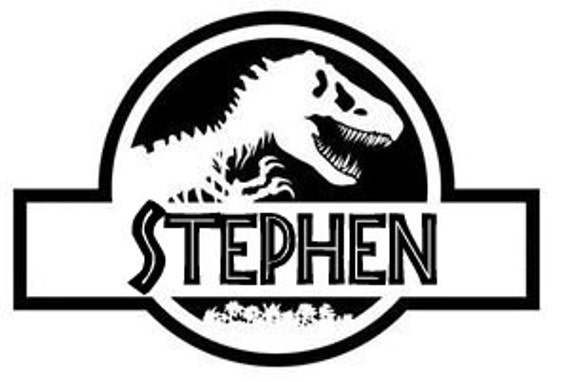 Personalized jurassic park wall decal perfect by iheartvinylkf for Best 20 jurassic park wall decal