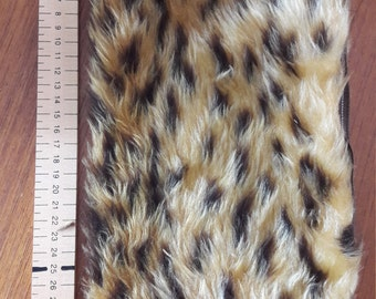 Faux fur make up pouch, pencil case.