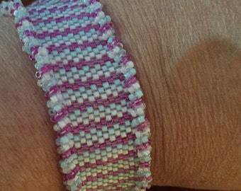 Hand Woven Peyote Stitch Bracelet