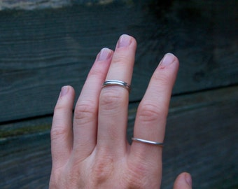 Sterling Silver Stacking Ring. Plain Stacking Ring. Ring Band. Sterling Silver Ring. Silver Ring.