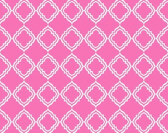 Geometric Pink - Extravaganza - by Lila Tueller Designs for Riley Blake Designs (Yardage, 100% Cotton Quilting Fabric)