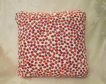 Ladybug novelty pillow, 14x14