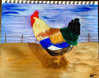 Beautiful original Chicken Painting