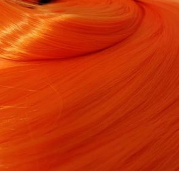 NEW! Starfire Bright Orange Nylon Doll Hair Hank Rerooting Barbie, Monster High, Ever After, Crissy, FR Blythe Dawn Rehair My Little Pony