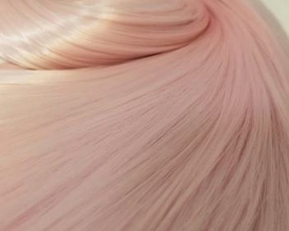 NEW! Baby Unicorn Powder Pink Nylon Doll Hair Hank Rerooting Barbie, Monster High, Ever After, Crissy, FR Blythe Dawn Rehair My Little Pony