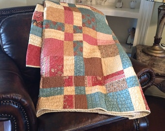 Disappearing nine patch country quilt