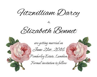 The Darcy: Customizable Save the Date & Wedding Invitation (Digital Download)