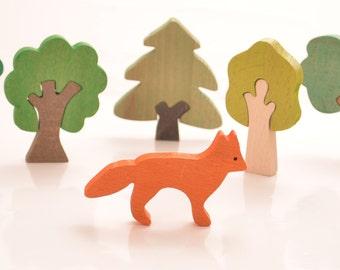 wooden animal leo, waldorf toy, wooden toy, montessori toy, montessori natural wood toy, wooden figure, montessori baby, waldorf wooden toy