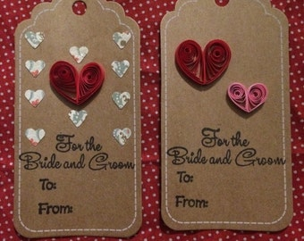 For the Bride and Groom Quilled Gift Tags