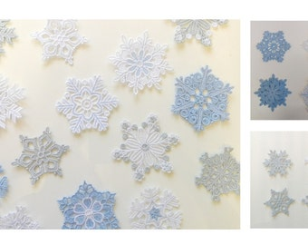Pk of 4 Lace Snowflakes - Size 2.5 - 3 Inch