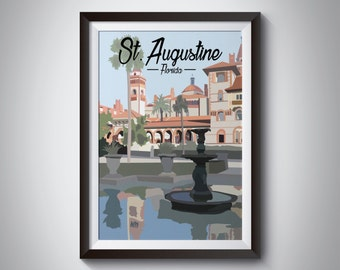 St. Augustine | Travel Poster | Instant Download